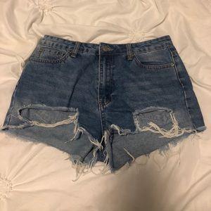 Forever 21 Light Jean Shorts